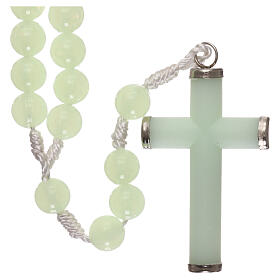 Plastic rosary with phosphorus beads 8 mm s2