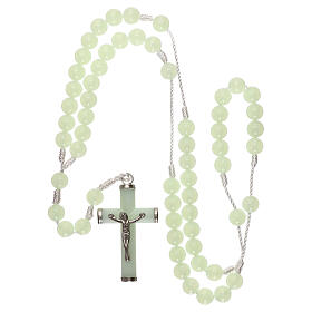 Plastic rosary with phosphorus beads 8 mm s4