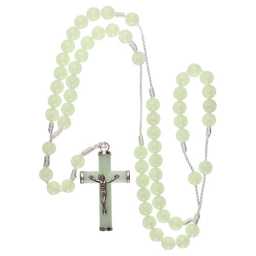 Plastic rosary with phosphorus beads 8 mm 4