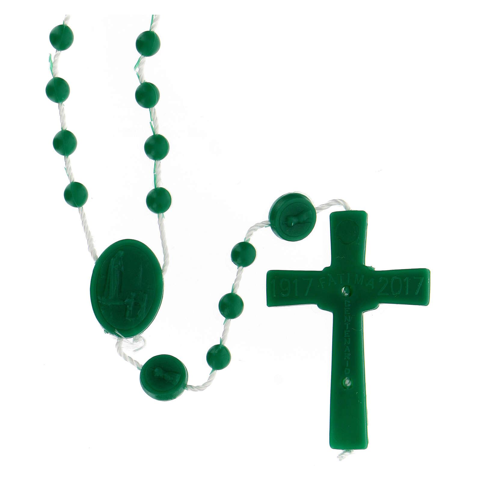 STOCK Chapelet Fatima grains verts nylon 4 mm 4