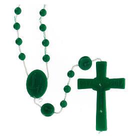 STOCK Chapelet Fatima grains verts nylon 4 mm s2
