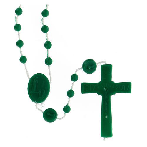 STOCK Chapelet Fatima grains verts nylon 4 mm 2