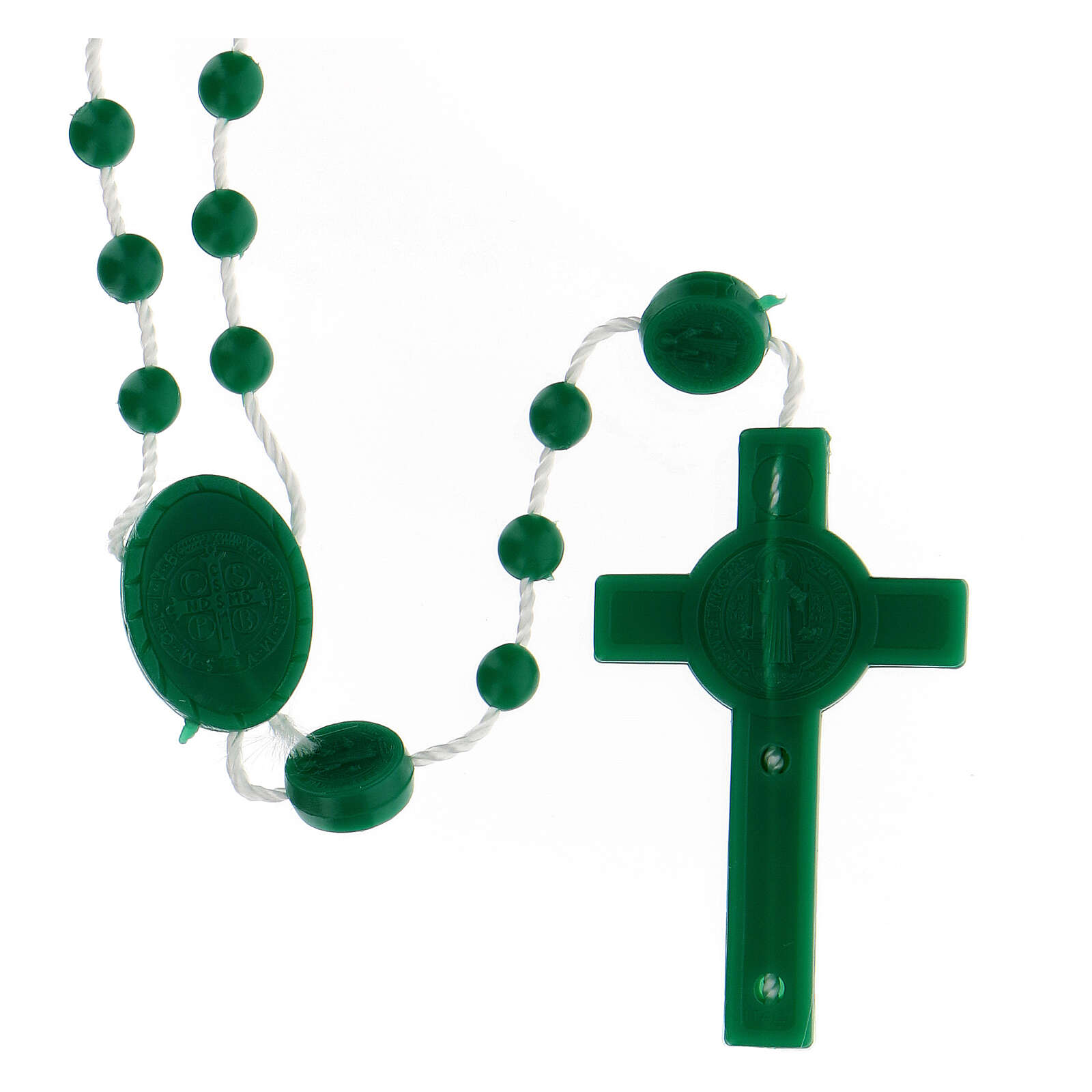 STOCK Chapelet St Benoît nylon vert 4 mm 4
