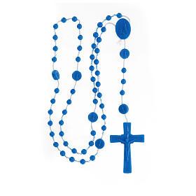 STOCK Chapelet bleu Fatima grains nylon 4 mm s4