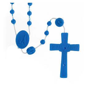 STOCK Terço nylon Nossa Senhora de Fátima contas azuis 4 mm s2