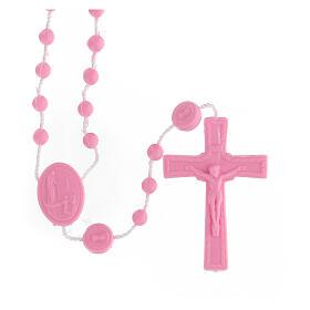 STOCK Rosario Fatima economico nylon rosa 4 mm s1