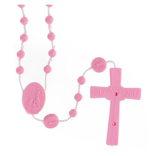 STOCK Rosario Fatima economico nylon rosa 4 mm 2
