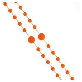 STOCK Rosario Fatima nylon arancio 4 mm s3