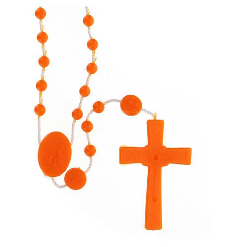 STOCK Rosario Fatima nylon arancio 4 mm 2