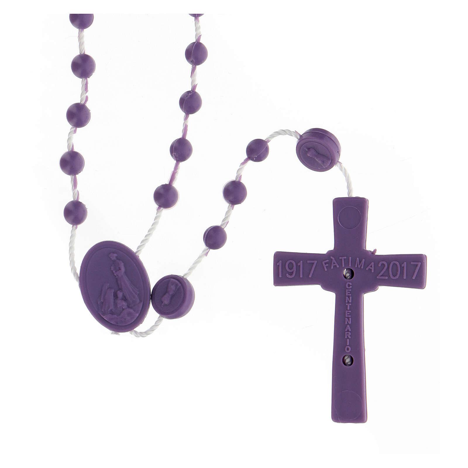 STOCK Chapelet St Benoît nylon violet 4 mm 4