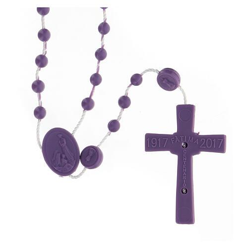 STOCK Chapelet St Benoît nylon violet 4 mm 2