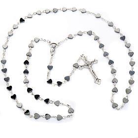 Hematite heart-shaped beads rosary s1