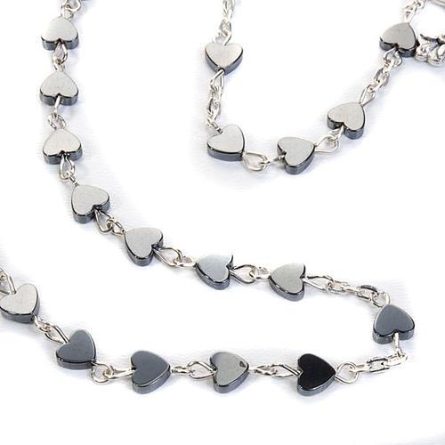 Hematite heart-shaped beads rosary 3