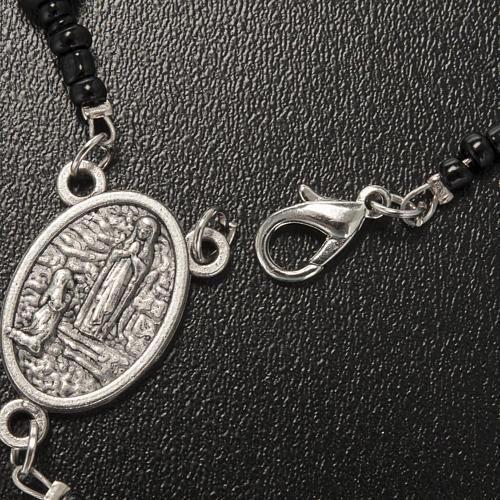 Collar rosario hematites Lourdes 5