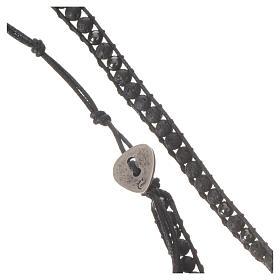 Collana Rosario in pietra lavica ed ematite 4 mm s6