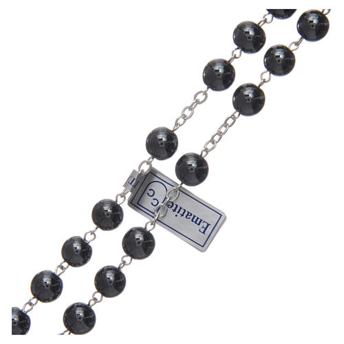 Rosary in hematite with silver cross 3