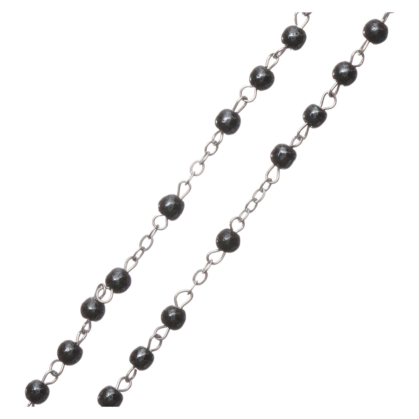 Rosary real hematite with round beads 2 mm 4