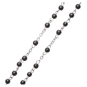 Rosary real hematite with round beads 2 mm s3