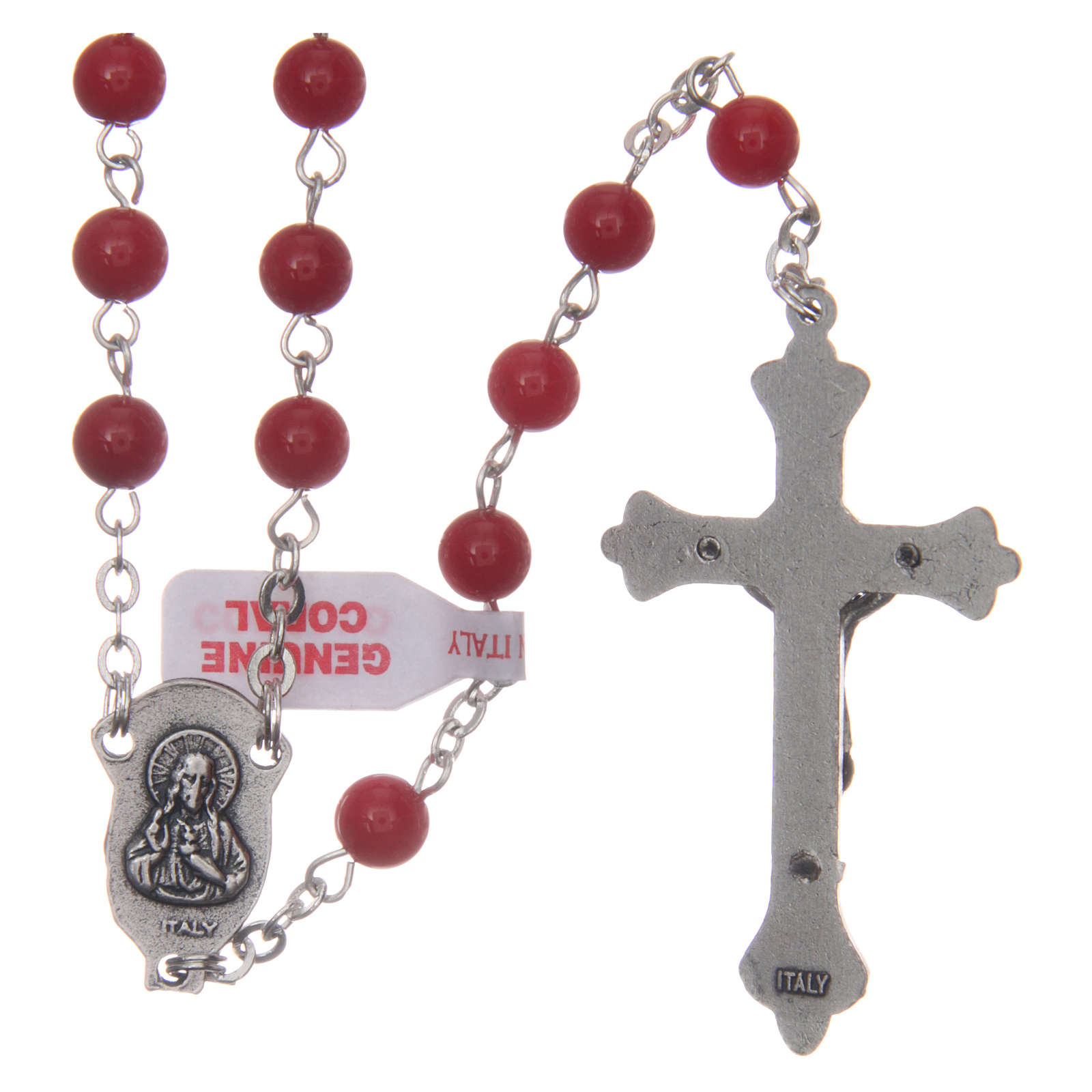 Rosary with grains in genuine coral 3 mm 4