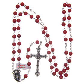 Rosary with grains in genuine coral 3 mm s4