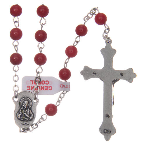Rosary with grains in genuine coral 3 mm 2