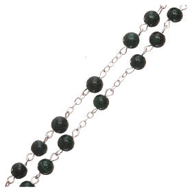 Rosary made of real green malachite 6 mm s3