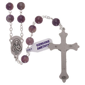 Rosary with grains in genuine amethyst 6 mm s2