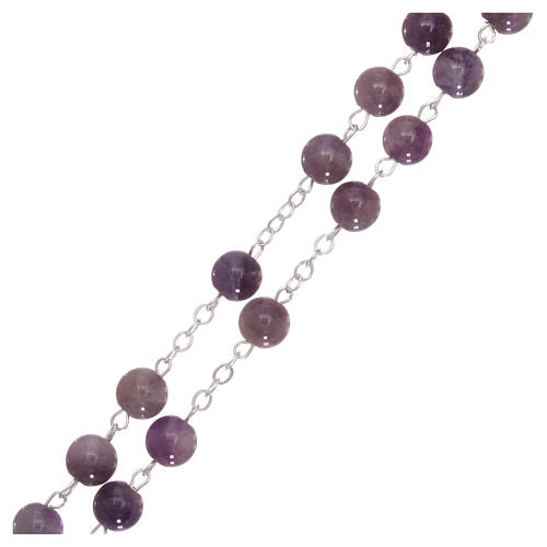Rosary with grains in genuine amethyst 6 mm 3