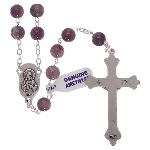 Amethyst rosary beads 6 mm 2