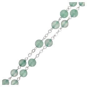 Rosario di pietra avventurina, perle di diametro mm 6 s3