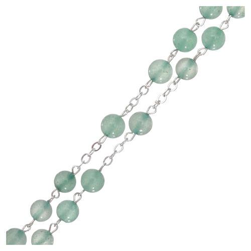 Rosario di pietra avventurina, perle di diametro mm 6 3