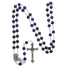 Rosario con perle di pietra dura lapislazzuli mm 6 s4