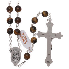 Rosary with grains in genuine tiger eye 6 mm s2