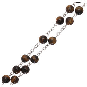 Rosary with grains in genuine tiger eye 6 mm s3