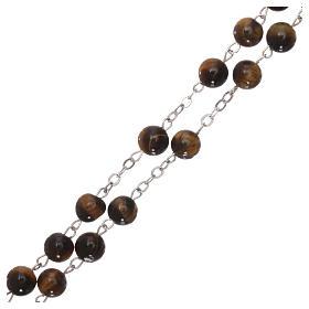 Rosario con perlas de verdadera piedra ojo tigre mm 6 s3