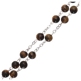 Rosary with tiger eye beads of 6 mm s3