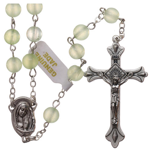 Rosary with grains in genuine jade 6 mm 1