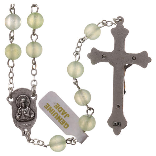Rosary with grains in genuine jade 6 mm 2