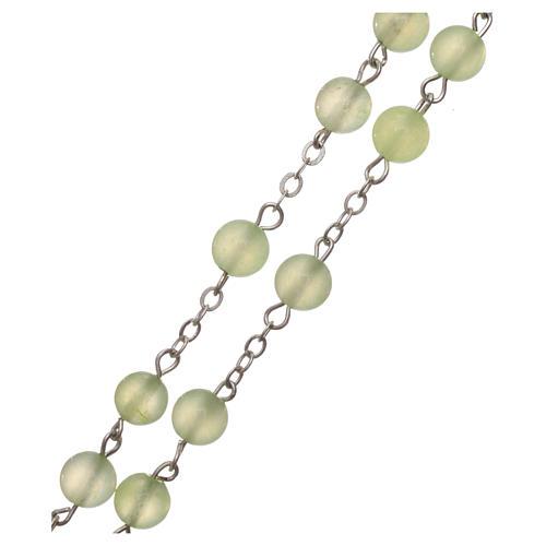 Chapelet avec grains en quartz jade véritable 6 mm 3
