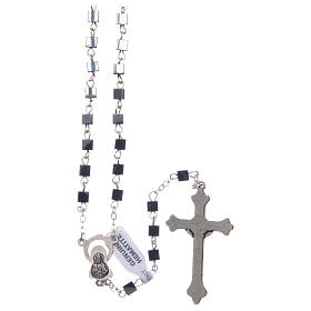 Hematite rosary with square beads 4 mm s2