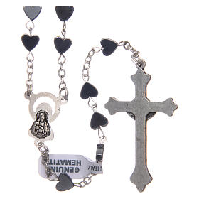 Heart-shaped hematite rosary 6 mm s2