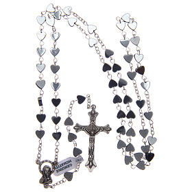 Heart-shaped hematite rosary 6 mm s4