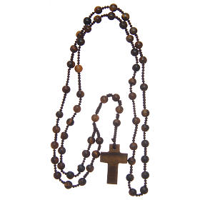 Rosary with round beads and stone cross 6 mm s4