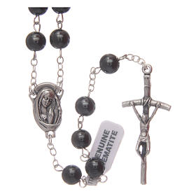 Hardstone rosaries: Hematite rosary with beads 6 mm