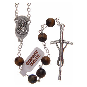 Rosary in tiger's eye 6 mm s2