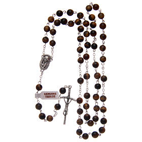 Rosary in tiger's eye 6 mm s4