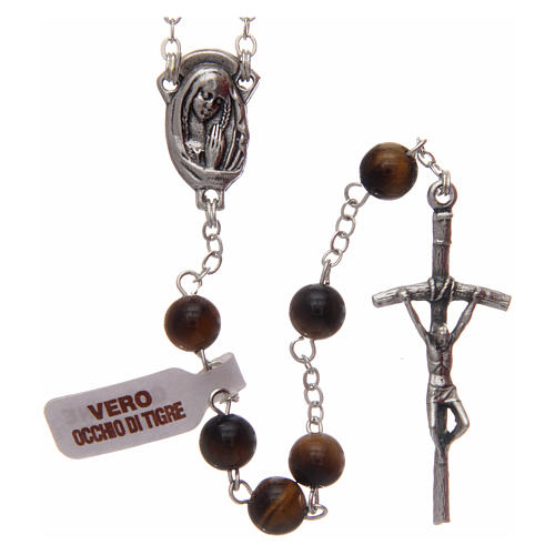 Rosary in tiger's eye 6 mm 1