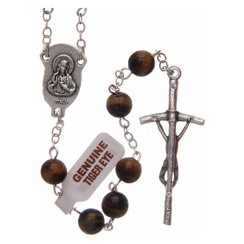 Rosary in tiger's eye 6 mm 2