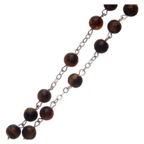 Rosary in tiger's eye 6 mm 3