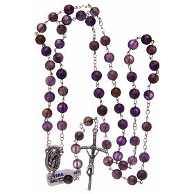 Rosary in real amethyst beads 7 mm s4